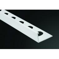 Perfil PVC Recto Blanco 9 mm de 2,60 M